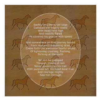 Galloping Horse Motivational Poem Poster