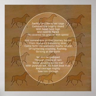 Galloping Horse Motivational Poem Poster