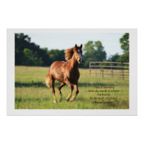 Galloping Horse Poster Print