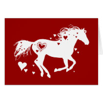 Galloping Horse Valentine's Day Card