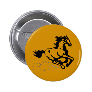 Galloping Horse Wild and Free 2 Inch Round Button