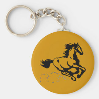 Galloping Horse Wild and Free Keychain