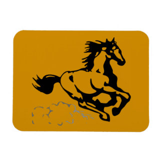 Galloping Horse Wild and Free Vinyl Magnets