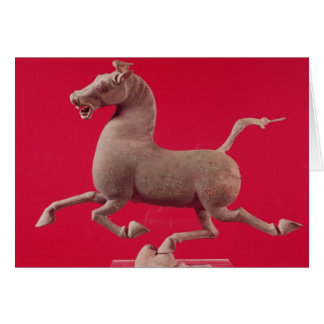 Galloping horse with one Hoof Resting on a Card