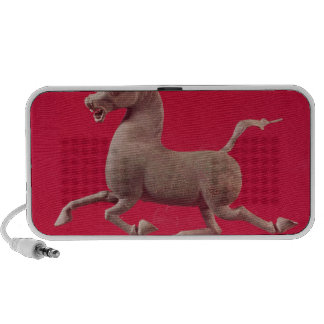 Galloping horse with one Hoof Resting on a Portable Speakers