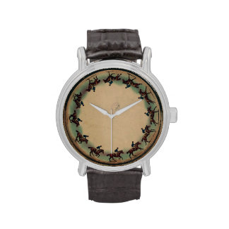 Galloping Horse Zoopraxiscope Vintage 1893 Wristwatches