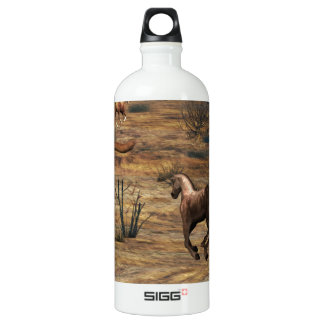 Galloping Horses Aluminum Water Bottle