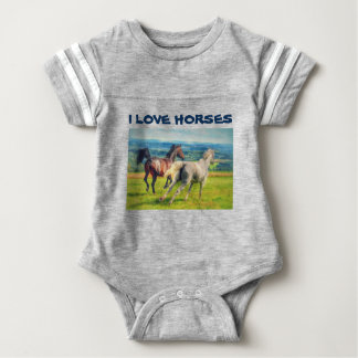 Galloping Horses Baby Bodysuit