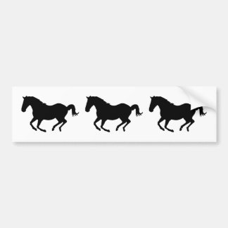 Galloping Horses Car Bumper Sticker