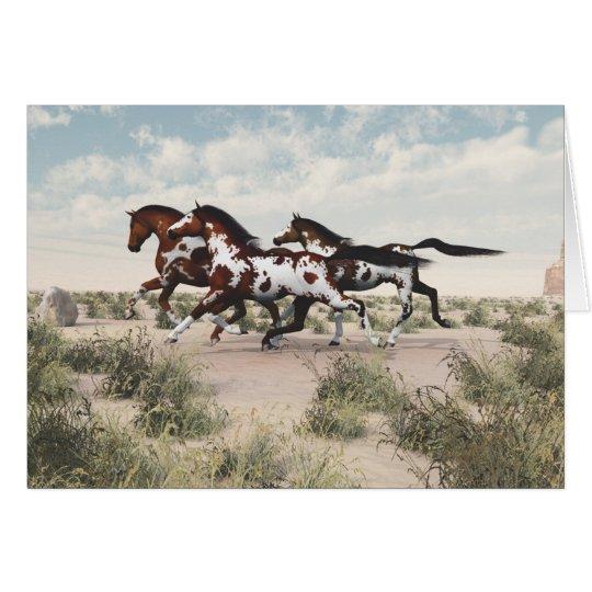 Galloping Horses Card