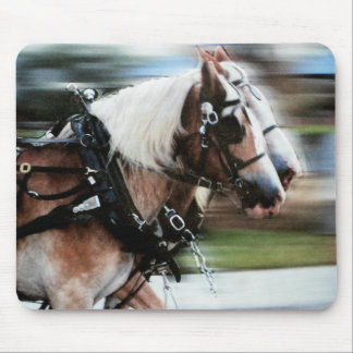 Galloping Horses Carriage Horses running mouse pad