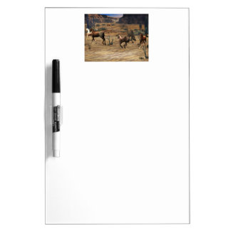 Galloping Horses Dry Erase Board