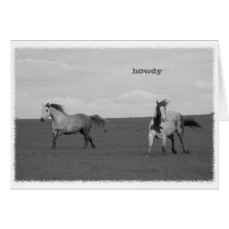 Galloping Horses in Pasture Greeting Card