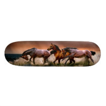 Galloping Horses in Surf Skateboard