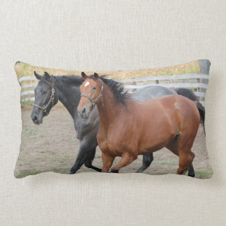 Galloping Horses Lumbar Pillow
