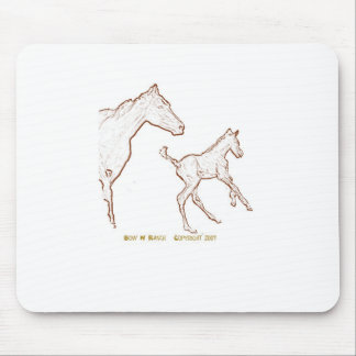 Galloping Horses: Mare and Foal Mouse Pad
