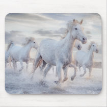 Galloping Horses On the Beach Mouse Pad