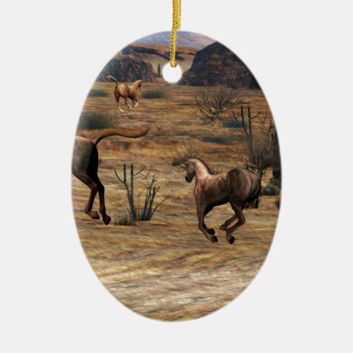 Galloping Horses Christmas Ornaments