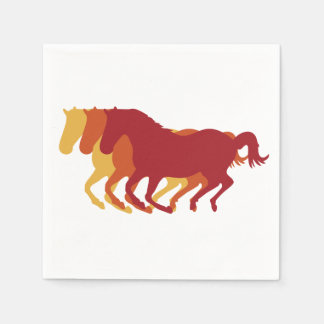 Galloping Horses Standard Cocktail Napkin