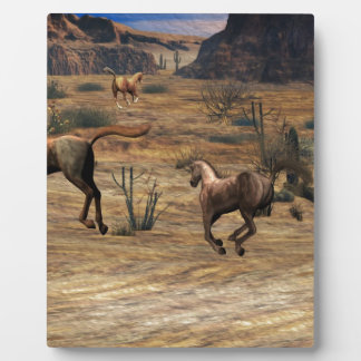 Galloping Horses Photo Plaques