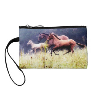 Galloping Horses Photography Coin Purse