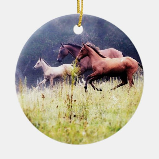 Galloping Horses Photography Christmas Tree Ornament
