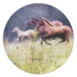 Galloping Horses Photography Party Plate