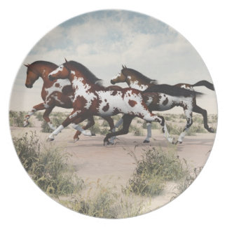 Galloping Horses Plate