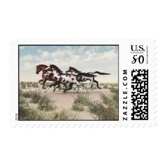 Galloping Horses postage