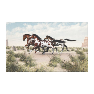 Galloping Horses Wrapped Canvas Stretched Canvas Prints