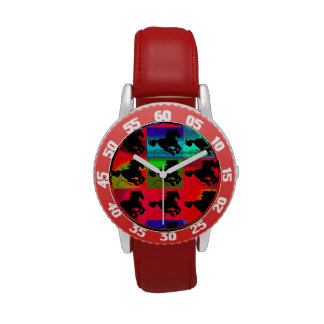 "Galloping Horses ""Year of the Horse"" Artwork Wrist Watches"