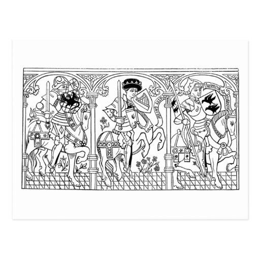 Galloping Knights postcard