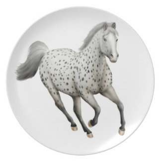Galloping Leopard Appaloosa Horse  Plate