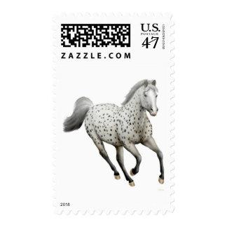 Galloping Leopard Appaloosa Horse Postage