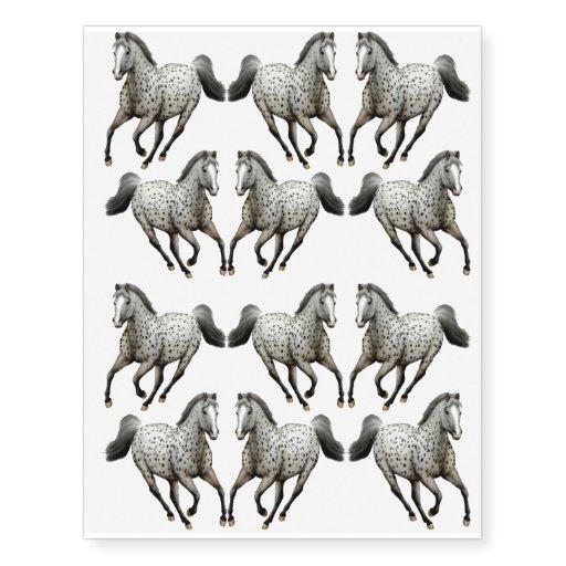 galloping leopard appaloosa horse temporary tattoo zazzle. Black Bedroom Furniture Sets. Home Design Ideas