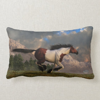 Galloping Mustang Lumbar Pillow