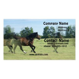 Galloping Mustangs Business Card