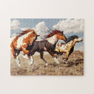 Galloping Mustangs Jigsaw Puzzle