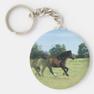 Galloping Mustangs Keychain
