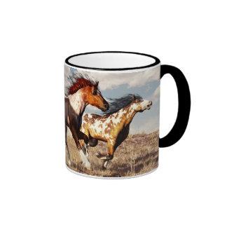 Galloping Mustangs Ringer Mug