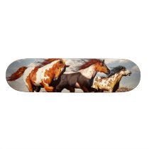 Galloping Mustangs Skateboard