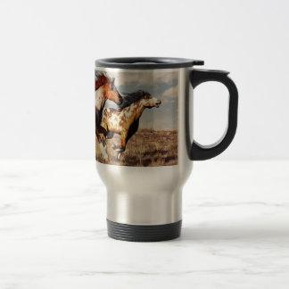 Galloping Mustangs Travel Mug