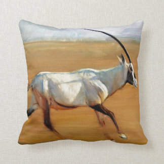 Galloping Oryx 2010 Throw Pillow