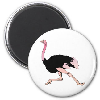 Galloping Ostrich Magnet
