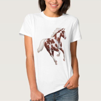 Galloping Overo Paint Fitted Babydoll Shirt