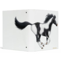 Galloping Paint Horse Binder