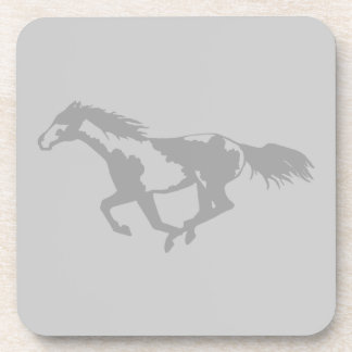 Galloping Paint Horse Drink Coaster