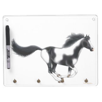 Galloping Paint Horse Dry Erase Board