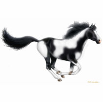 Galloping Paint Horse Holiday Ornament