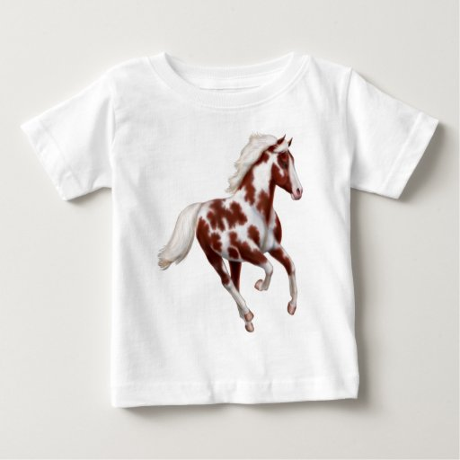 Galloping Paint Horse Infant T-Shirt